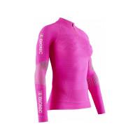 X-BIONIC® EFFEKTOR 4.0 TRAIL RUN HALF ZIP LG SL Women FLAMINGO PINK/ARCTIC WHITE