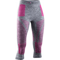 X-BIONIC® ENERGY ACCUMULATOR® 4.0 MELANGE PANTS 3/4 Grey Melange/Pink