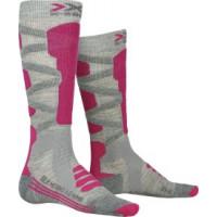 X-SOCKS® SKI SILK MERINO 4.0 WMN Grey Melange/Pink