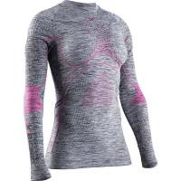 X-BIONIC® ENERGY ACCUMULATOR® 4.0 MELANGE SHIRT ROUND NECK LG SL Grey Melange/Pink