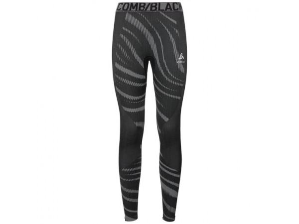 Women's BLACKCOMB Base Layer Pants 187071-60064  black - odlo concrete grey