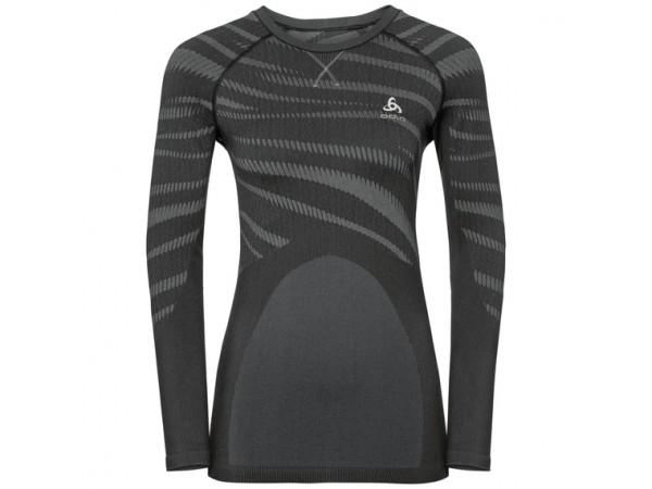 Women's BLACKCOMB Long-Sleeve Base Layer Top black - odlo concrete grey