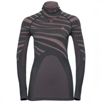 Odlo BLACKCOMB Long-Sleeve Base Layer Top with Face Mask odyssey gray - mesa rose