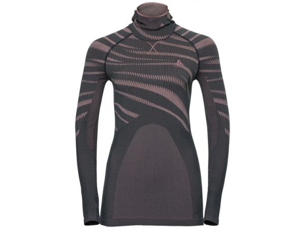 Women's BLACKCOMB Long-Sleeve Base Layer Top with Face Mask odyssey gray - mesa rose