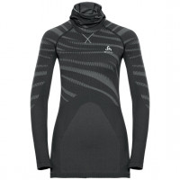 Odlo BLACKCOMB Long-Sleeve Base Layer Top with Face Mask black - odlo concrete grey