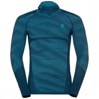 Men's BLACKCOMB Long-Sleeve Base Layer Top with Face Mask  poseidon - blue jewel - atomic blue