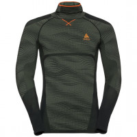 Men's BLACKCOMB Long-Sleeve Base Layer Top with Face Mask climbing ivy - black - orange clown fish