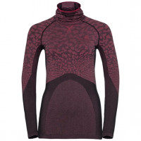 Women's BLACKCOMB Long-Sleeve Base Layer Top with Face Mask black - cerise
