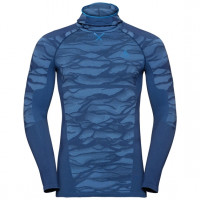 Men's BLACKCOMB Long-Sleeve Base Layer Top with Face Mask estate blue - directoire blue