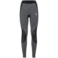 Women's BLACKCOMB Base Layer Pants  black - odlo steel grey - silver