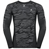 Men's BLACKCOMB Long-Sleeve Base Layer Top187082  black - odlo steel grey - silver