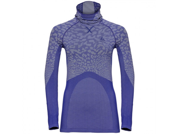 Women's BLACKCOMB Long-Sleeve Base Layer Top with Face Mask clematis blue - tradewinds