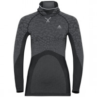 Women's BLACKCOMB Long-Sleeve Base Layer Top with Face Mask black - odlo steel grey - silver