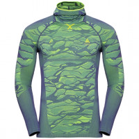 Men's BLACKCOMB Long-Sleeve Base Layer Top with Face Mask bering sea - safety yellow
