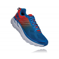 HOKA one one Clifton 6 1102872-MRIB Mandarin Red/Imperial Blue