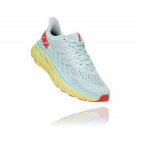 HOKA one one Clifton 7 1110509-MMHC MORNING MIST / HOT CORAL