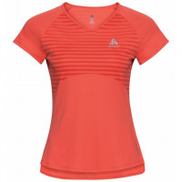 Odlo Women's CERAMICOOL BASE LAYER PRINT T-Shirt 312741-30649 Hot Coral