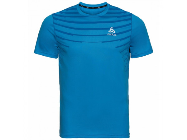 Odlo Men's CERAMICOOL BASE LAYER PRINT T-Shirt 312742-20681 Blue Aster