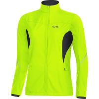 GORE® R3 Women Partial GORE® WINDSTOPPER® Jacket Neon yellow/black