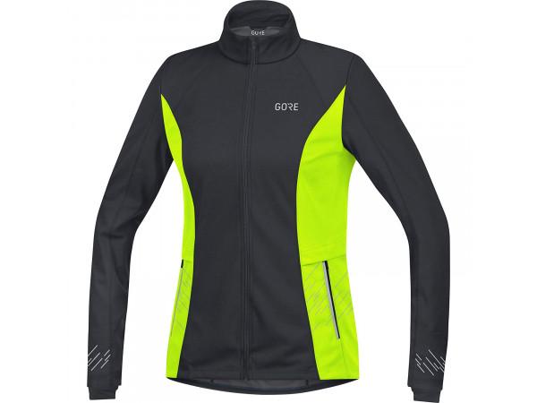 GORE® R5 Women GORE® WINDSTOPPER® Jacket Black/Neon Yellow