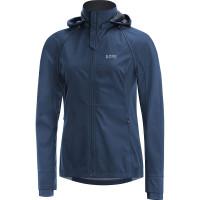 GORE® R3 Women GORE® WINDSTOPPER® Zip-Off Jacket Deep water blue/black