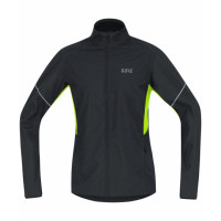 GORE® R3 Partial GORE® WINDSTOPPER® Jacket Black/Neon Yellow