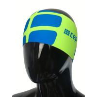 Bežecká čelenka CEP Zelená fluo/Elektrická modrá