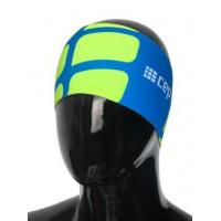 Bežecká čelenka CEP elektrická mod/zelená fluo