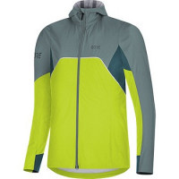 GORE® R7 Women's Partial GORE-TEX INFINIUM™ Hooded Jacket citrus green/nordic blue