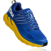 HOKA one one Clifton 6 Wide 1102876-NBLM Nebulas Blue/Lemon