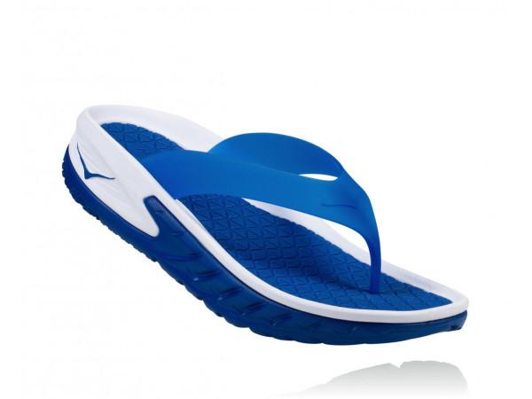 HOKA One One ORA Recovery Flip 1018352-WTRB White/True Blue
