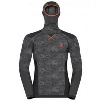 pánake tričko ODLO  Blackcomb Facemask 170992-60105 black/odlo concrete grey/orangeade