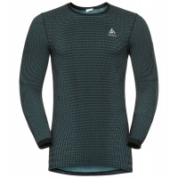 Men's ODLO FUTURESKIN Long-Sleeve Base Layer Top Stormy Weather/Black