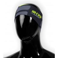 Bežecká čelenka CEP Čierna/Zelená Fluo