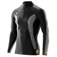 pánske tričko SKINS DNAmic Thermal Zip DT000107500 Black